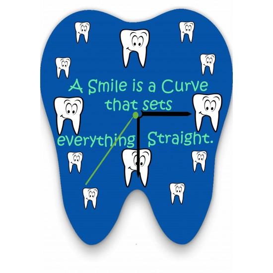 A Smile is a Curve Wall Clock Zahnsply Clocks