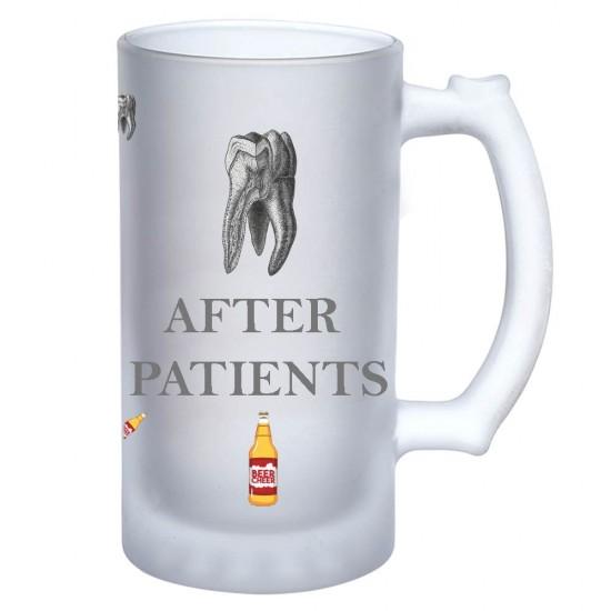 After Patient Dental Beer Frosted Mug for Gift Zahnsply Dental Beer Mugs