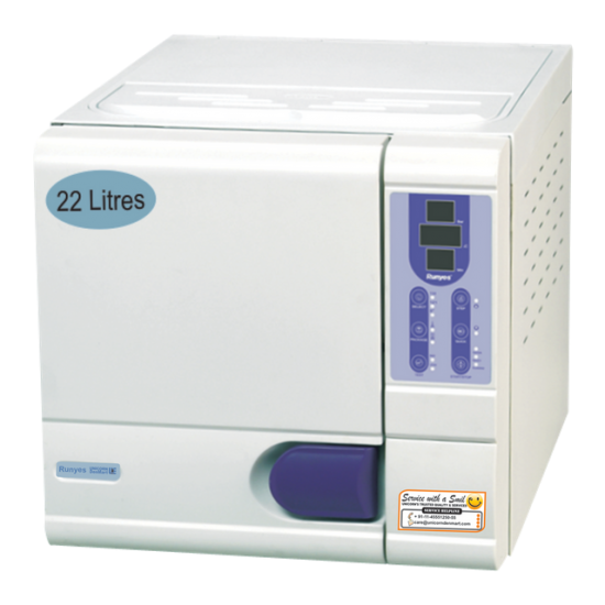 Class B FENG 22 Autoclave 22 Ltr RUNYES Autoclaves